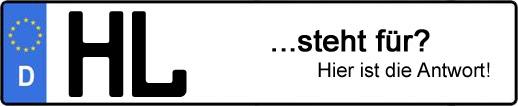 Wofür steht das Kfz-Kennzeichen HL? | Kfz-Kennzeichen - AUTOPURISTEN.net