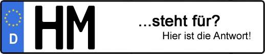 Wofür steht das Kfz-Kennzeichen HM? | Kfz-Kennzeichen - AUTOPURISTEN.net