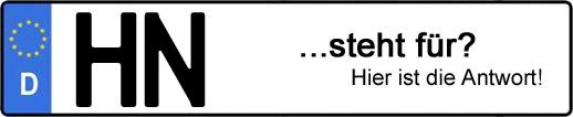 Wofür steht das Kfz-Kennzeichen HN? | Kfz-Kennzeichen - AUTOPURISTEN.net