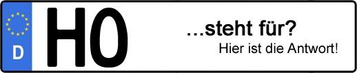 Wofür steht das Kfz-Kennzeichen HO? | Kfz-Kennzeichen - AUTOPURISTEN.net