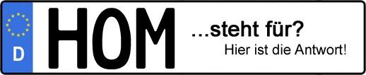 Wofür steht das Kfz-Kennzeichen HOM? | Kfz-Kennzeichen - AUTOPURISTEN.net
