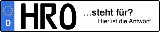 Wofür steht das Kfz-Kennzeichen HRO? | Kfz-Kennzeichen - AUTOPURISTEN.net