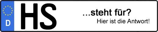 Wofür steht das Kfz-Kennzeichen HS? | Kfz-Kennzeichen - AUTOPURISTEN.net