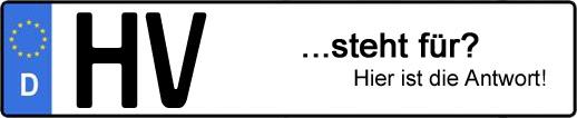 Wofür steht das Kfz-Kennzeichen HV? | Kfz-Kennzeichen - AUTOPURISTEN.net