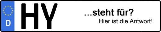 Wofür steht das Kfz-Kennzeichen HY? | Kfz-Kennzeichen - AUTOPURISTEN.net