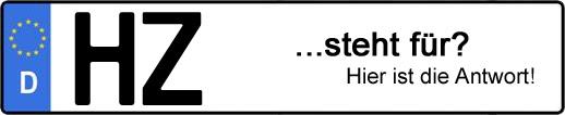 Wofür steht das Kfz-Kennzeichen HZ? | Kfz-Kennzeichen - AUTOPURISTEN.net