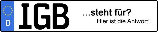 Wofür steht das Kfz-Kennzeichen IGB? | Kfz-Kennzeichen - AUTOPURISTEN.net