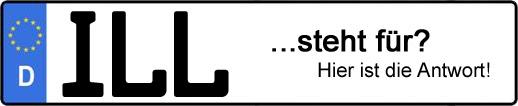 Wofür steht das Kfz-Kennzeichen ILL? | Kfz-Kennzeichen - AUTOPURISTEN.net