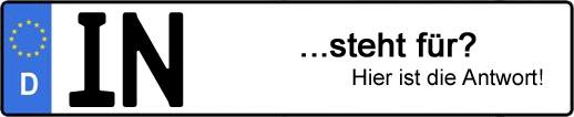 Wofür steht das Kfz-Kennzeichen IN? | Kfz-Kennzeichen - AUTOPURISTEN.net