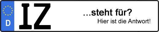 Wofür steht das Kfz-Kennzeichen IZ? | Kfz-Kennzeichen - AUTOPURISTEN.net