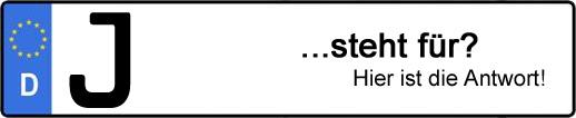 Wofür steht das Kfz-Kennzeichen J? | Kfz-Kennzeichen - AUTOPURISTEN.net