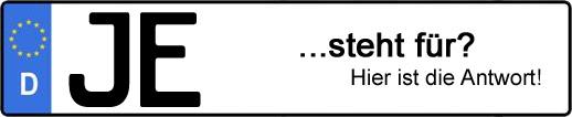 Wofür steht das Kfz-Kennzeichen JE? | Kfz-Kennzeichen - AUTOPURISTEN.net