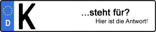 Wofür steht das Kfz-Kennzeichen K? | Kfz-Kennzeichen - AUTOPURISTEN.net