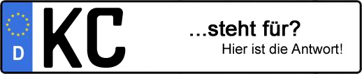 Wofür steht das Kfz-Kennzeichen KC? | Kfz-Kennzeichen - AUTOPURISTEN.net