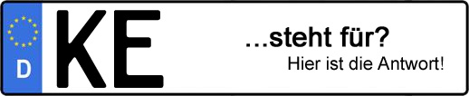 Wofür steht das Kfz-Kennzeichen KE? | Kfz-Kennzeichen - AUTOPURISTEN.net