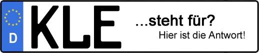 Wofür steht das Kfz-Kennzeichen KLE? | Kfz-Kennzeichen - AUTOPURISTEN.net