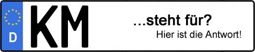 Wofür steht das Kfz-Kennzeichen KM? | Kfz-Kennzeichen - AUTOPURISTEN.net