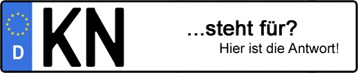Wofür steht das Kfz-Kennzeichen KN? | Kfz-Kennzeichen - AUTOPURISTEN.net