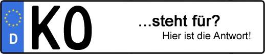 Wofür steht das Kfz-Kennzeichen KO? | Kfz-Kennzeichen - AUTOPURISTEN.net