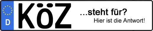 Wofür steht das Kfz-Kennzeichen KÖZ? | Kfz-Kennzeichen - AUTOPURISTEN.net