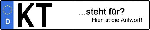 Wofür steht das Kfz-Kennzeichen KT? | Kfz-Kennzeichen - AUTOPURISTEN.net