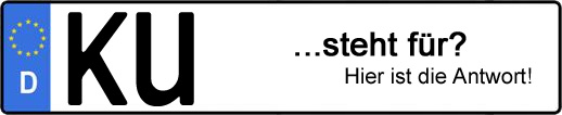 Wofür steht das Kfz-Kennzeichen KU? | Kfz-Kennzeichen - AUTOPURISTEN.net