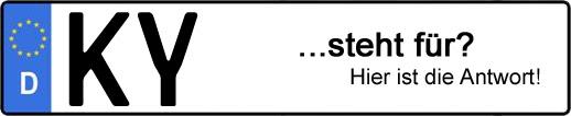 Wofür steht das Kfz-Kennzeichen KY? | Kfz-Kennzeichen - AUTOPURISTEN.net