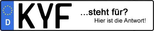 Wofür steht das Kfz-Kennzeichen KYF? | Kfz-Kennzeichen - AUTOPURISTEN.net