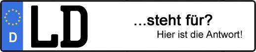 Wofür steht das Kfz-Kennzeichen LD? | Kfz-Kennzeichen - AUTOPURISTEN.net