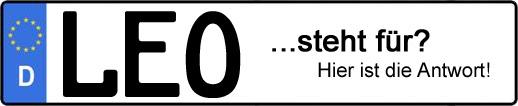Wofür steht das Kfz-Kennzeichen LEO? | Kfz-Kennzeichen - AUTOPURISTEN.net