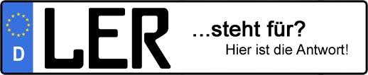 Wofür steht das Kfz-Kennzeichen LER? | Kfz-Kennzeichen - AUTOPURISTEN.net