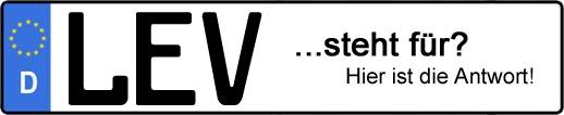 Wofür steht das Kfz-Kennzeichen LEV? | Kfz-Kennzeichen - AUTOPURISTEN.net