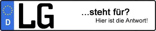 Wofür steht das Kfz-Kennzeichen LG? | Kfz-Kennzeichen - AUTOPURISTEN.net