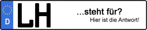 Wofür steht das Kfz-Kennzeichen LH? | Kfz-Kennzeichen - AUTOPURISTEN.net