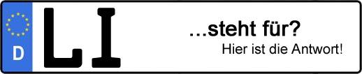 Wofür steht das Kfz-Kennzeichen LI? | Kfz-Kennzeichen - AUTOPURISTEN.net