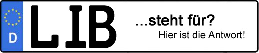 Wofür steht das Kfz-Kennzeichen LIB? | Kfz-Kennzeichen - AUTOPURISTEN.net