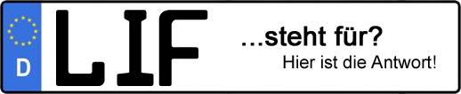 Wofür steht das Kfz-Kennzeichen LIF? | Kfz-Kennzeichen - AUTOPURISTEN.net
