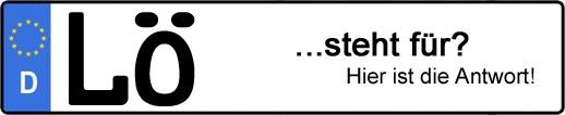 Wofür steht das Kfz-Kennzeichen LÖ? | Kfz-Kennzeichen - AUTOPURISTEN.net