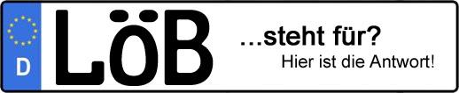 Wofür steht das Kfz-Kennzeichen LÖB? | Kfz-Kennzeichen - AUTOPURISTEN.net