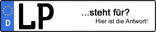 Wofür steht das Kfz-Kennzeichen LP? | Kfz-Kennzeichen - AUTOPURISTEN.net