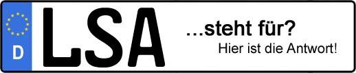 Wofür steht das Kfz-Kennzeichen LSA? | Kfz-Kennzeichen - AUTOPURISTEN.net