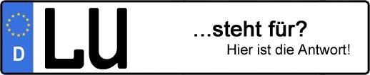 Wofür steht das Kfz-Kennzeichen LU? | Kfz-Kennzeichen - AUTOPURISTEN.net
