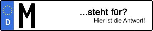 Wofür steht das Kfz-Kennzeichen M? | Kfz-Kennzeichen - AUTOPURISTEN.net