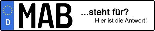 Wofür steht das Kfz-Kennzeichen MAB? | Kfz-Kennzeichen - AUTOPURISTEN.net