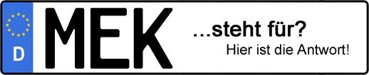 Wofür steht das Kfz-Kennzeichen MEK?   Kfz-Kennzeichen - AUTOPURISTEN.net