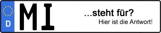 Wofür steht das Kfz-Kennzeichen MI?   Kfz-Kennzeichen - AUTOPURISTEN.net