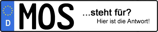 Wofür steht das Kfz-Kennzeichen MOS?   Kfz-Kennzeichen - AUTOPURISTEN.net