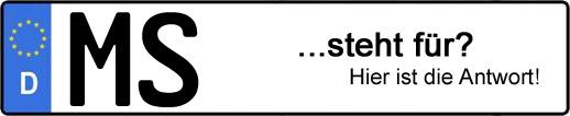 Wofür steht das Kfz-Kennzeichen MS?   Kfz-Kennzeichen - AUTOPURISTEN.net