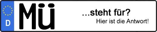 Wofür steht das Kfz-Kennzeichen MÜ? | Kfz-Kennzeichen - AUTOPURISTEN.net