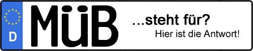 Wofür steht das Kfz-Kennzeichen MÜB?   Kfz-Kennzeichen - AUTOPURISTEN.net